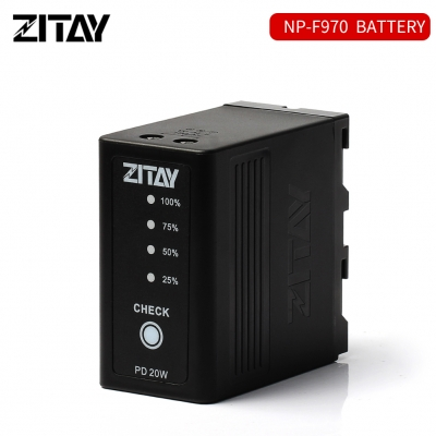 ZITAY NP-F970-980-F550 Battery with Dual DC Ports and Type C USB Ports